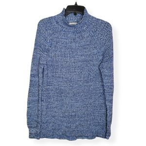Style & Co Cotton Mock-Neck Sweater Cool Combo NWT